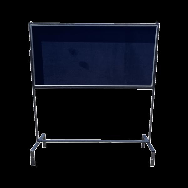 تابلو اعلان شیشه دار با پایه فلزی